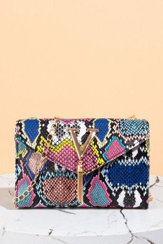 front_Evangeline Grinhilt Snakeskin Print Crossbody Bag
