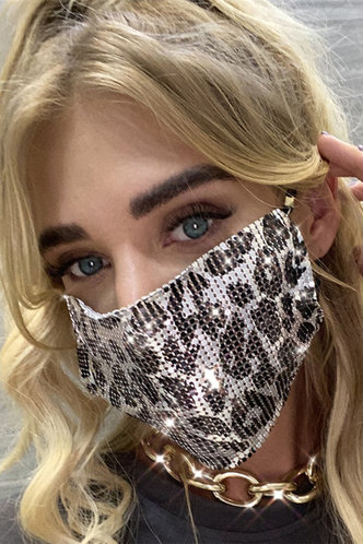 front_Fannie Edwina Silver Leopard Print Face Mask