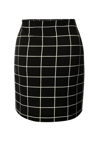 back_Checkered Past {color} Skirt