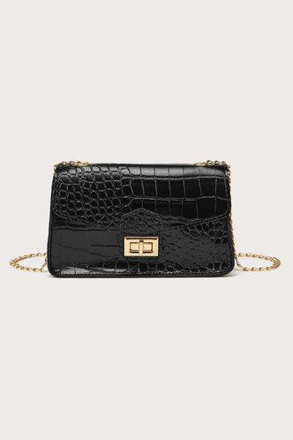 front_Nell Elsa Black Crossbody Bag