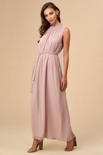 front_Heather Grey Pink Maxi Dress