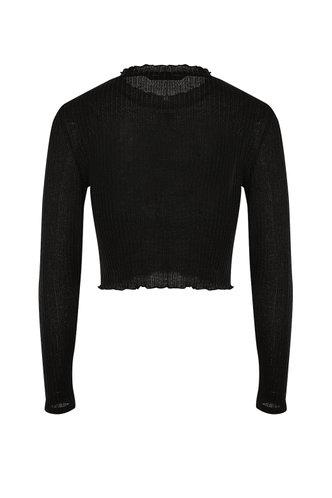 back_TGIF Black Long Sleeve Top