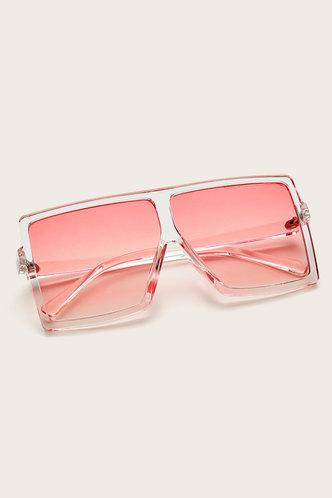 front_Summer Elizabeth Pink Gradient Square Frame Sunglasses
