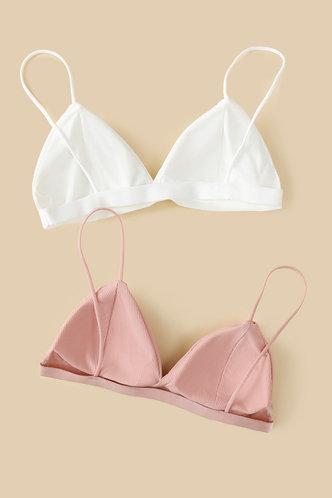 back_Carla Eartha White And Pink Triangle Bra Set 2pack