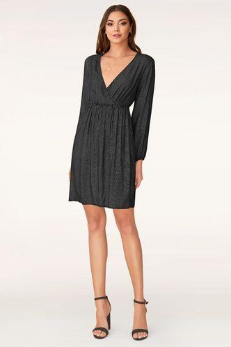 back_For You Black Polka Dots Mini Dress