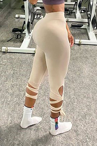front_Aggie Eleanore Beige Activewear Bottom