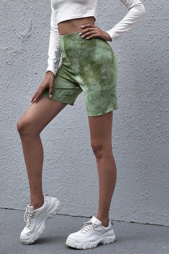 back_Norma Eartha Green Tie Dye Biker Shorts