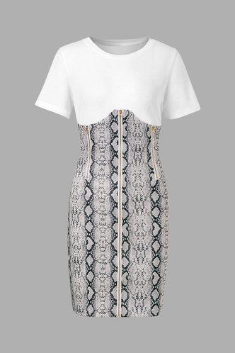 back_Melody Emily Grey Snakeskin Print Plus Size Dress