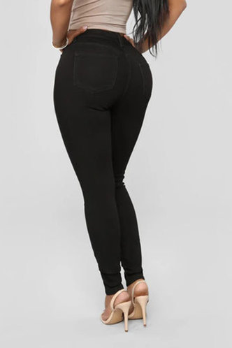 back_Phillis Elma Black Bodycon Jeans