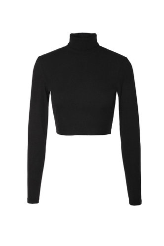 front_Emmerson Black Long Sleeve Top