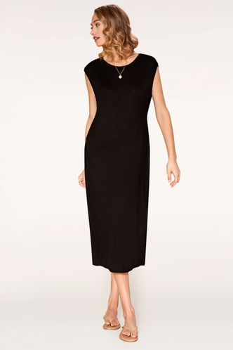 back_You Are Black Midi Dress