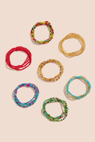 back_Lucy Enid Multicolor Beaded Waist chain 7pcs