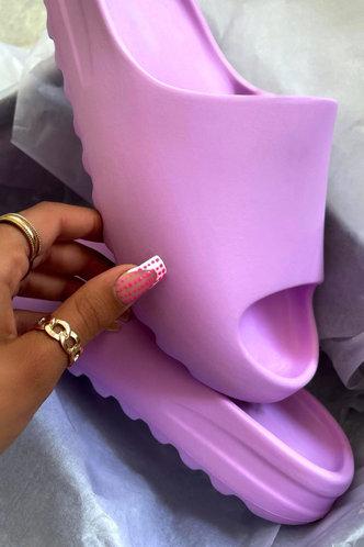 front_Cynthia Eunice Purple Slide & Flip Flop