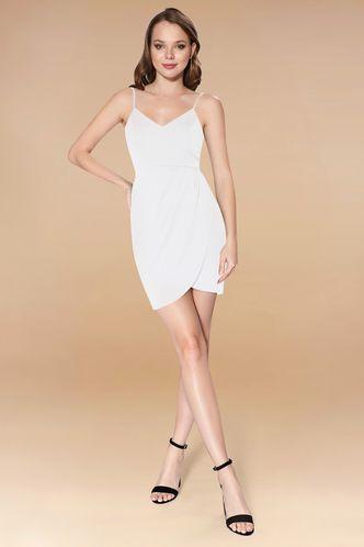 front_Next To You White Mini Dress