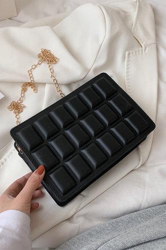 front_Macy Elvira Black Crossbody Bag