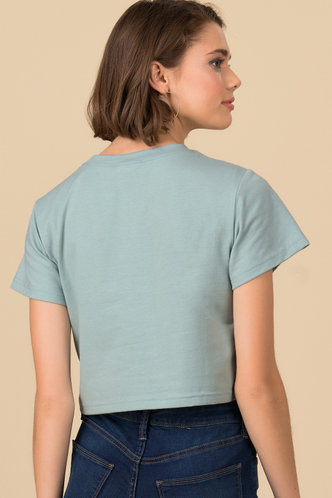 back_Little Sis Mint Cropped Tee