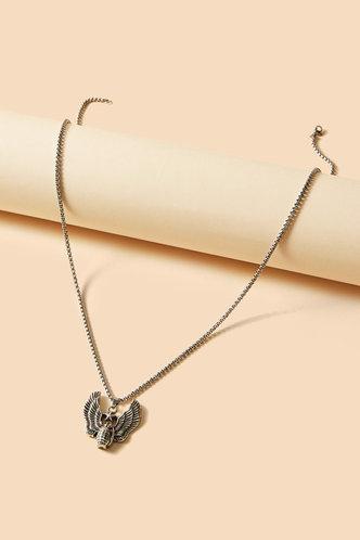 back_Dorcas Elva Silver Wing Decor Necklace