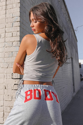 back_Weekend Chill Grey Sleeveless Top