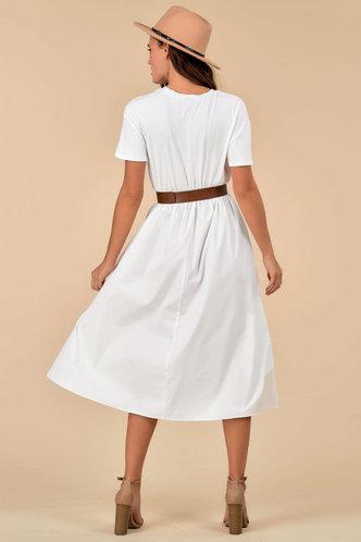 back_Blank Canvas {color} Midi Dress
