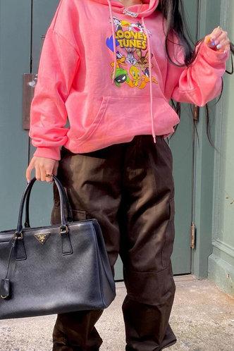 back_Cori Erin Pink Drawstring Pocket Hoodie