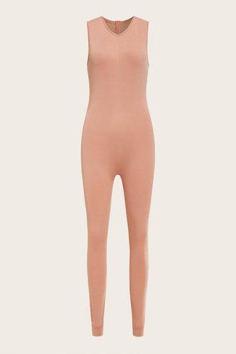 back_Estelle Evangeline Rust Jumpsuit