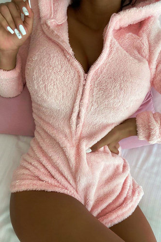 front_Solid Color   Pink Rompers