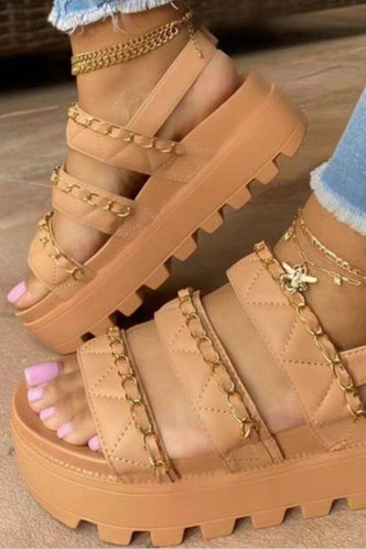 front_Laverne Emma Khaki Wedge Sandals