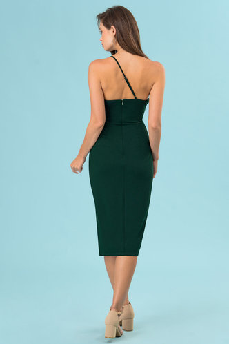 back_Felicite Dark Emerald Midi Dress