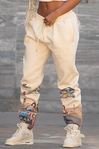 back_Maura Elma Light Khaki Sweatpants