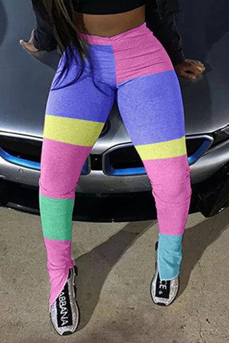 front_Ainslie Eleanore Pink Colorblock Activewear Bottom