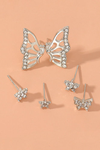 back_Edith Ella Silver Butterfly Detail Earring 6pcs