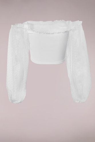 back_Showstopper White Organza Sleeve Top