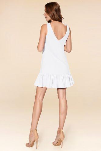 back_Cruising Day White Mini Dress