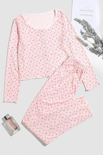 front_Elaine Baby Pink PJ Set