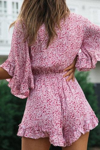 back_Denise Kovert Pink Floral Print Romper