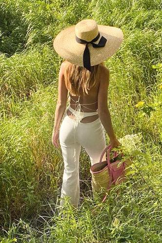 back_Frederica Eden White Flare Pants