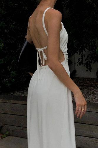 back_Elinor Emma White Tie Back Cutout Dress
