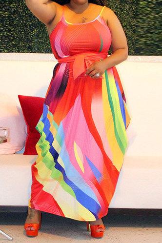 front_Gladys Marsaus Rainbow Plus Cami Dress