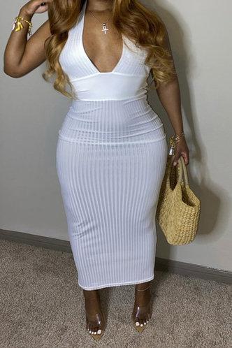 front_Hazel Kvarop White Bodycon Dress