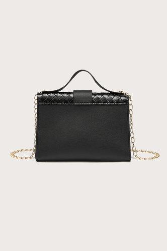 back_Andrea Erica Black Satchel Bag