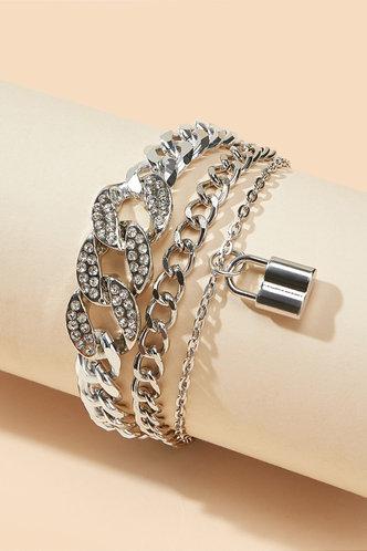 back_Mignon Elizabeth Silver Lock Detail Bracelet
