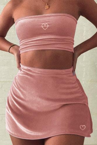 front_Lavinia Ella Pink Tube Top