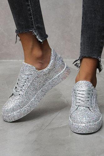front_Griselda Makavel Silver Sneakers