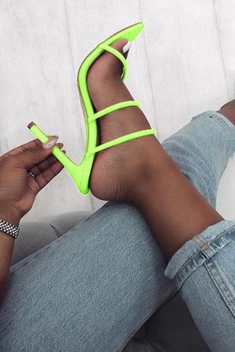 back_Celestine Emily Lime Green Heeled Sandals