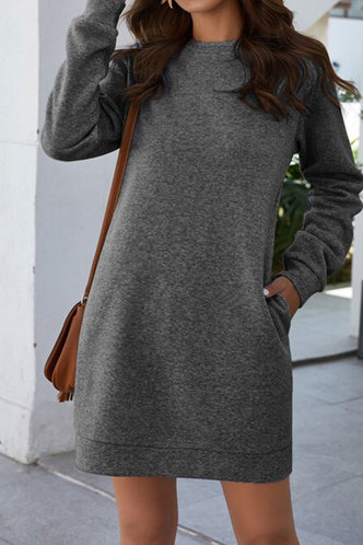 front_Maha Dark Grey Dress