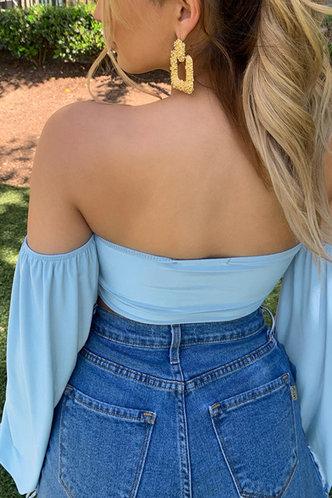 back_Cassandra Edith Blue Off Shoulder Blouse