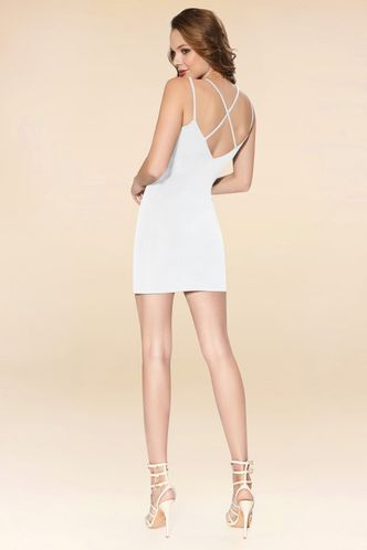 back_Your Days White Mini Dress