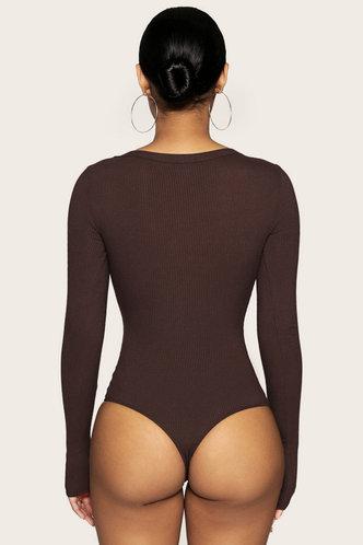 back_Suzanne Evangeline Brown Bodysuit