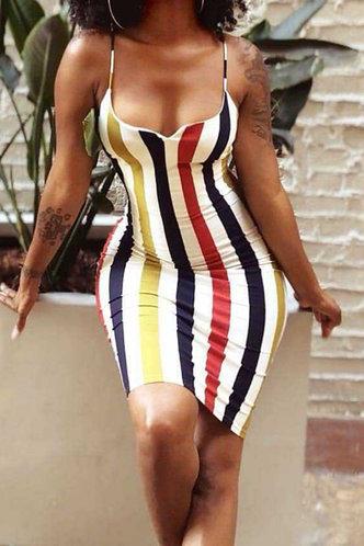 front_Gloria Elsie Colorful Striped Plus Cami Dress