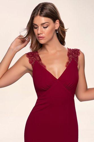 front_Elegant Love {Color} Stretch Crepe Maxi Dress